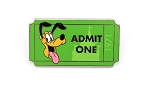 Pluto Admit One 1971 Ticket WDW Castle