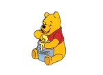 Winnie the Pooh with Hunny Pot Germany