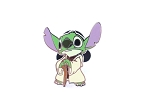 Rare Stitch Yoda Star Wars