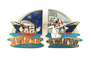 2 pin DCL New Years Eve and Day LE Set