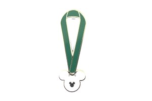Completer Green Lanyard Hidden Mickey Pin