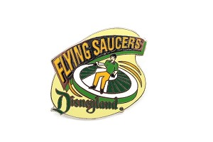 Vintage Flying Saucers Disneyland Retro Attraction