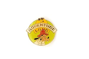 1985 Vintage Goofy Adventureland Disneyland Retro Button Style