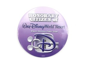 Honorary Citizen of WDW Resort Purple Button