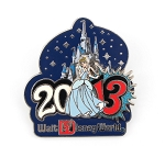 Cinderella and Castle WDW Park Dated 2013 Year Logo