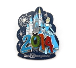 Cinderella and Castle WDW Park Dated 2014 Year Logo