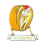 (AP) Five Golden Rings Tinker Bell 12 Days of Christmas