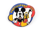Mickey and Pluto Cast United Way Pin