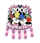 Bead Dangle New Year's Eve Minnie and Mickey Four Parks