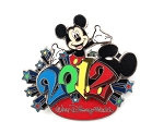 3D Mickey 2012 WDW Dated Park Logo