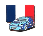 Pixar Cars 2 Raoul Caroule French Race Flag