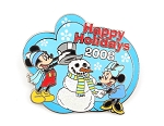 Burbank Studio Store Cast Holiday Mickey Minnie Snowman