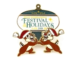 Chip and Dale Epcot's Festival of Holidays 2018 Ornament pin
