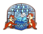 Chip and Dale Happy Hanukkah Snow Window