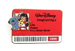 WDI Lilo and Stitch Cast ID Badge Pin