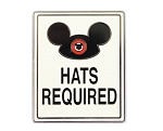 Ear Hats Required Sign Poster