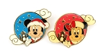 Christmas Mickey and Minnie 2 Pin Set Tokyo Agrabah