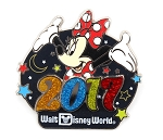 Minnie WDW Glitter 2017 Dated Year Logo