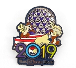 Chip and Dale Popcorn Spaceship Earth Epcot 2019 Dated Logo