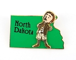North Dakota State Character James Giant Peach