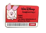 WDI Piglet Cast ID Badge Pin Pooh