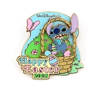 (AP) Stitch in Easter Basket Eating Egg