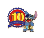 Stitch 10 Years of Pin Trading LE