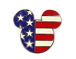 USA Flag Country Mickey Icon Red White Blue