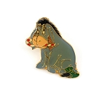 Vintage 1998 Christmas Eeyore Candy Cane Green Bow